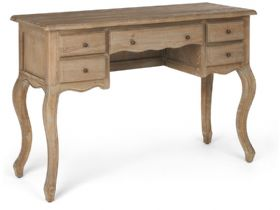Oak Dressing Table With Curved Front
