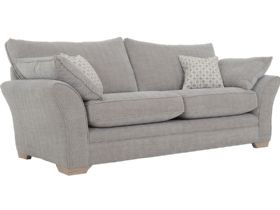 Cavan large fabric sofa in tweed ash