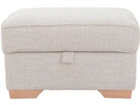 Cavan storage footstool in tweed multi
