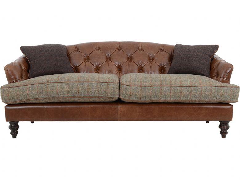 Tetrad harris tweed dalmore midi sofa lee longlands for Leather and tweed sofa