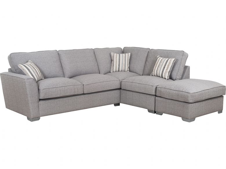 Reikp RHF Fabric Corner Sofa with Stool