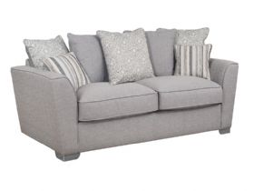Reiko 3 Seater Pillow Back Fabric Sofa