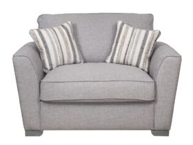 Fabric Love Chair Sofa Bed with Deluxe Mattress