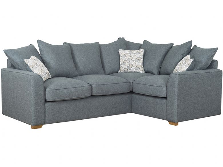 Carney fabric pillow back corner sofa