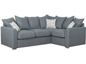 RHF Pillow Back Fabric Corner Sofa