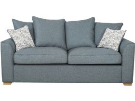 3 Seater Fabric Pillow Back Sofa
