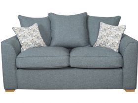 2 Seater Fabric Pillow Back Sofa