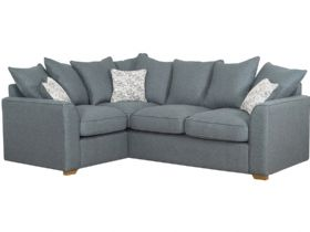 LHF Pillow Back Fabric Corner Sofa