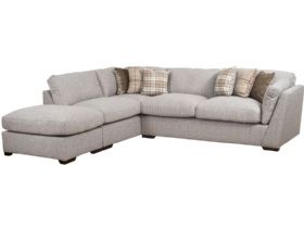 LHF Fabric Corner Sofa With Stool