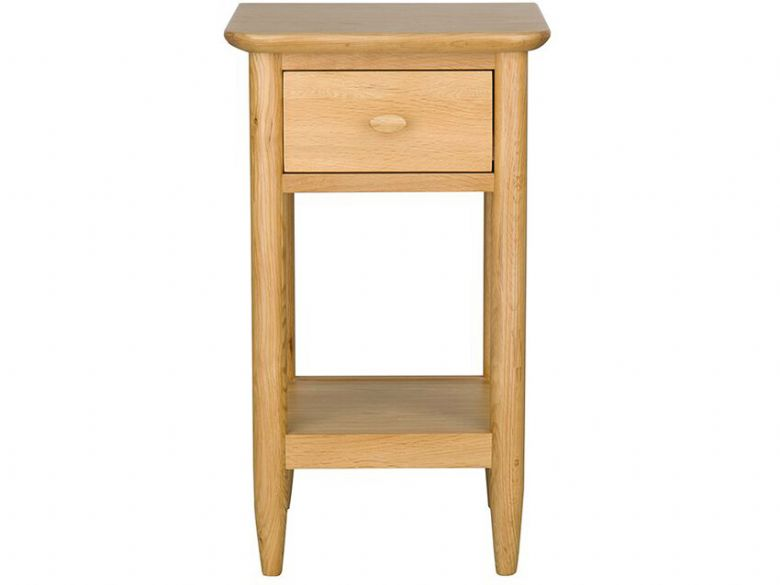 Ercol Teramo compact side table, made with oak with a clear matt finish