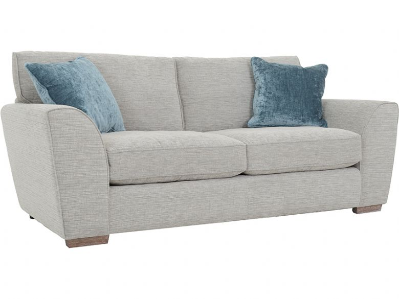 Delora 2 Seater Fabric Sofa Side