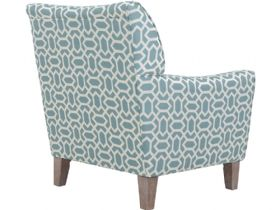 Delora fabric accent chair in Maggie Honeycombe Aqua
