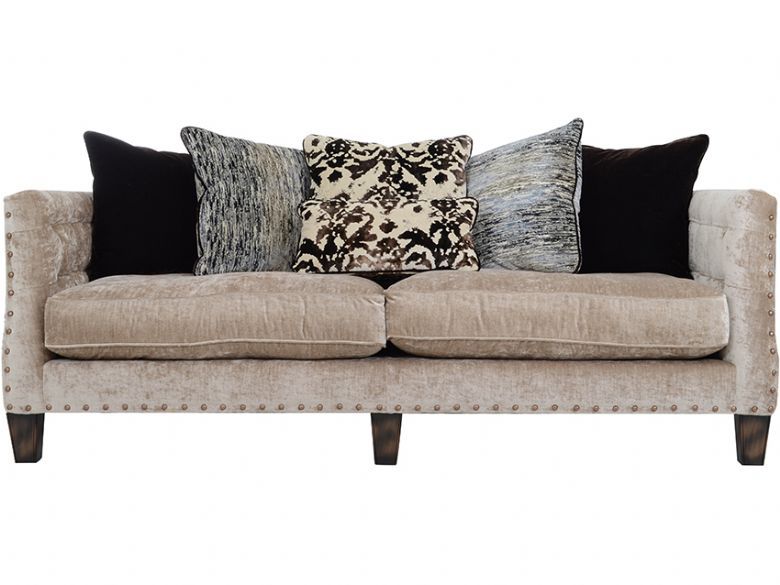 Large Fabric Scatter Back Sofa
