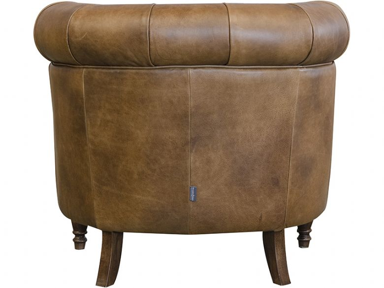 Tam button back leather tub chair