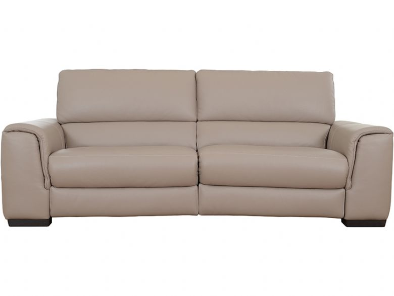 Natuzzi edtions calvino leather sofa with double electric for Double leather sofa