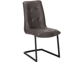 Modern Grey Cantilever Dining Chair