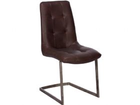 Modern Brown Cantilever Dining Chair