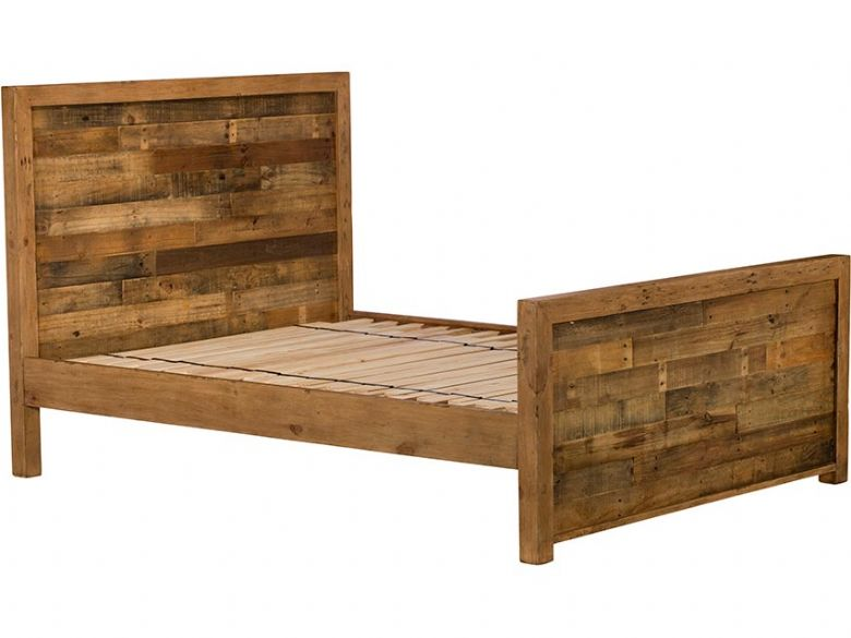 Halsey 5'0 King Size Reclaimed High Foot End Bed