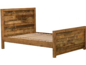 6'0 Super King Reclaimed High Foot End Bed