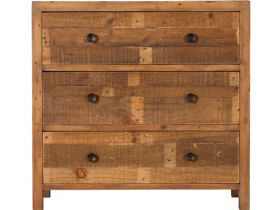 Reclaimed 3 Drawer Wide Chest
