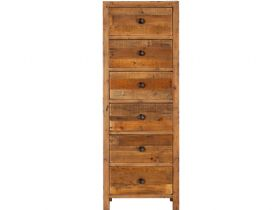 Halsey Reclaimed 6 Drawer Tallboy