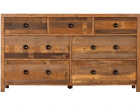 Reclaimed 7 Drawer Wide Chest