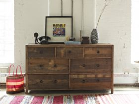 Halsey reclaimed 7 drawer wide chest