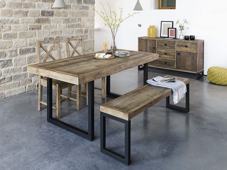 Reclaimed timber dining table from Lee LongLands