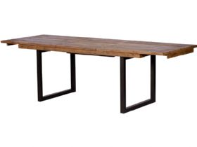 Halsey reclaimed 180cm dining table fully extended
