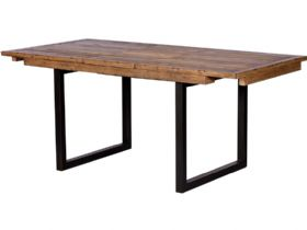 Halsey reclaimed 140cm extending dining table - fully extended