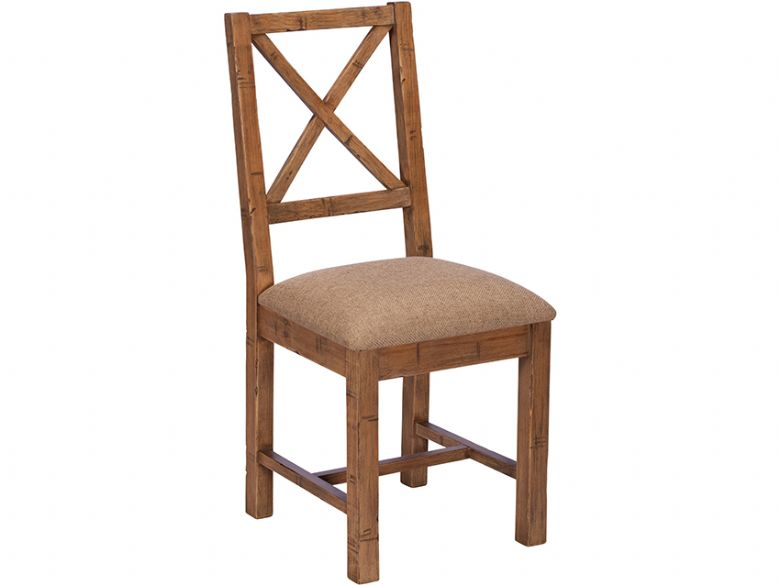 Halsey reclaimed cross back dining chair
