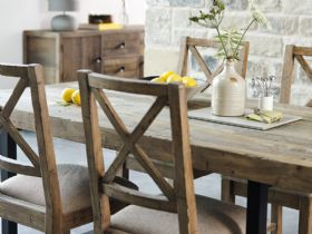 Halsey reclaimed rustic dining collection