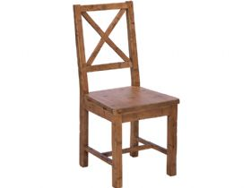 Reclaimed Cross Back Dining Chair