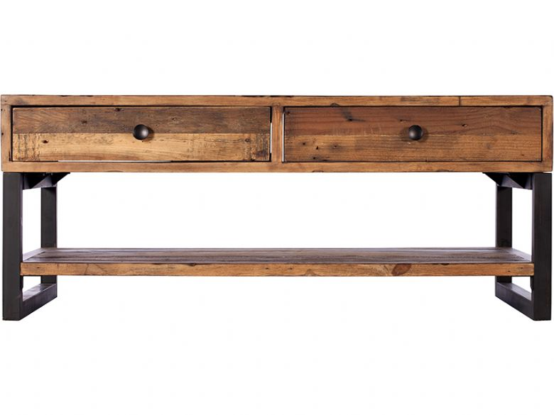 Halsey reclaimed coffee table with drawers