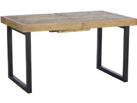 140cm Reclaimed Extending Dining Table - Moving Legs