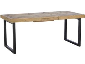 140cm Reclaimed Extending Dining Table - Extended