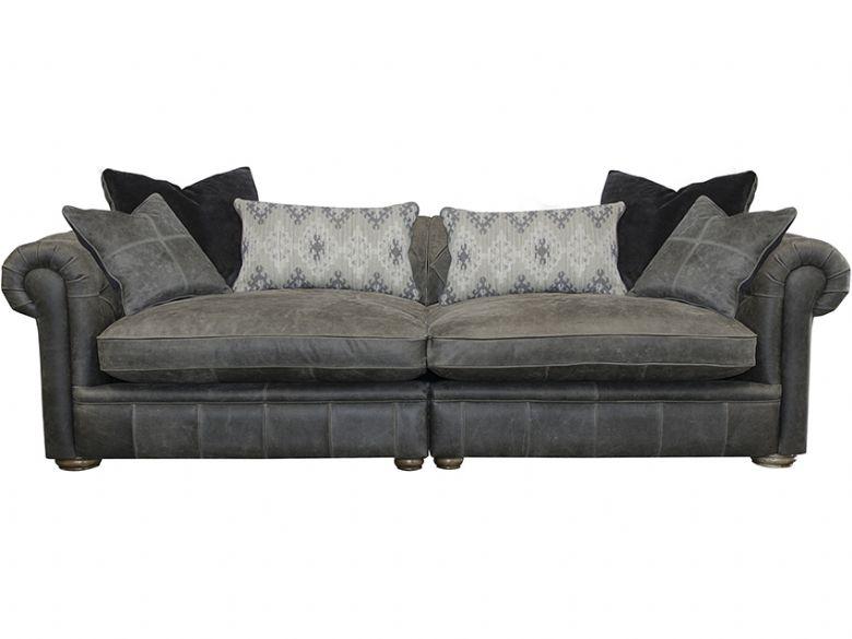 Delfino Leather Maxi Sofa In Jin Siberian