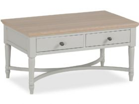 Cleveland painted coffee table with drawers