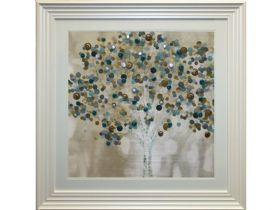 Teal Bubbles Tree