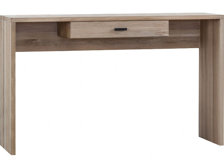 Avesta modern oak console table with drawer