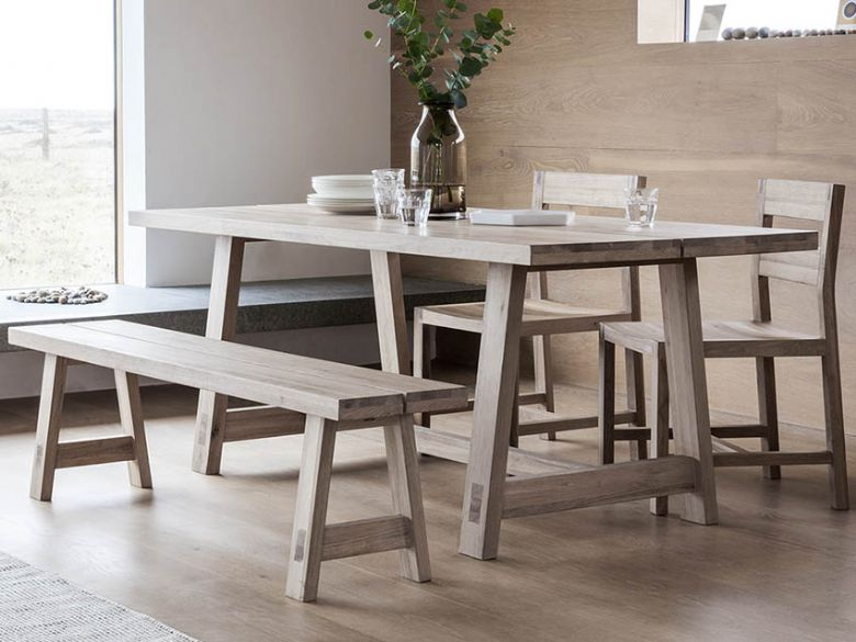 Modern Oak 185cm Dining Table