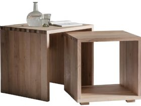 Modern Oak Nest Of Tables