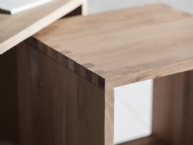 Avesta modern oak nest of tables