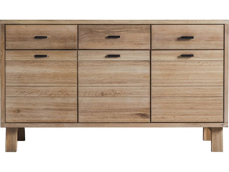 Modern Oak 3 Door Sideboard