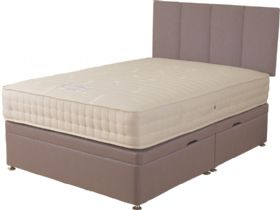 6'0 Super King Size Side Opening Storage Ottoman & Mattress