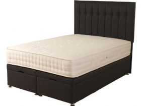 6'0 Super King Size Front Opening Ottoman & Mattress