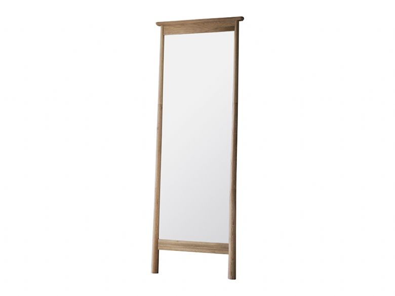 Oak Cheval Standing Mirror