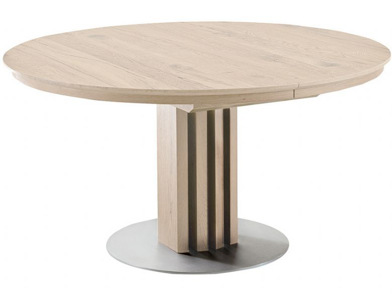 alfio 120cm round extending dining table lee longlands