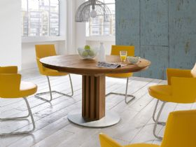 Alfio round extending dining table
