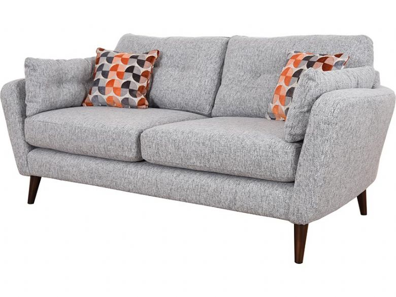Lottie 3 seater fabric grey sofa available at Lee Longlands